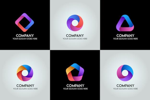 3d business logo template  vector Premium Vector