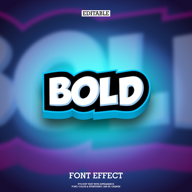3d cartoon style text effect for animation and game logo Premium Vector