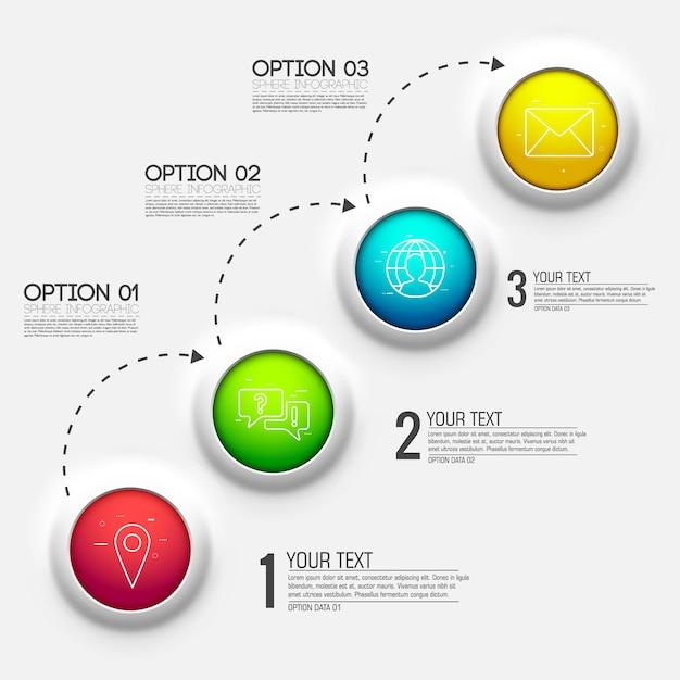 3dチャート図ビジネスプレゼンテーション Premiumベクター
