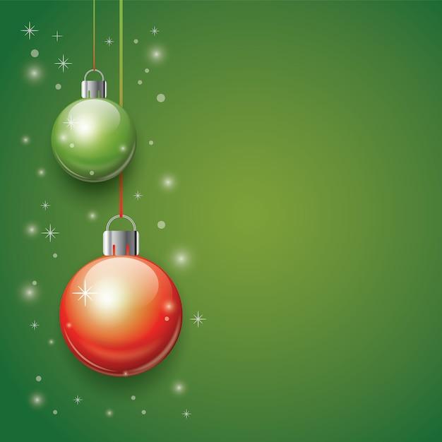 3d christmas balls background Premium Vector