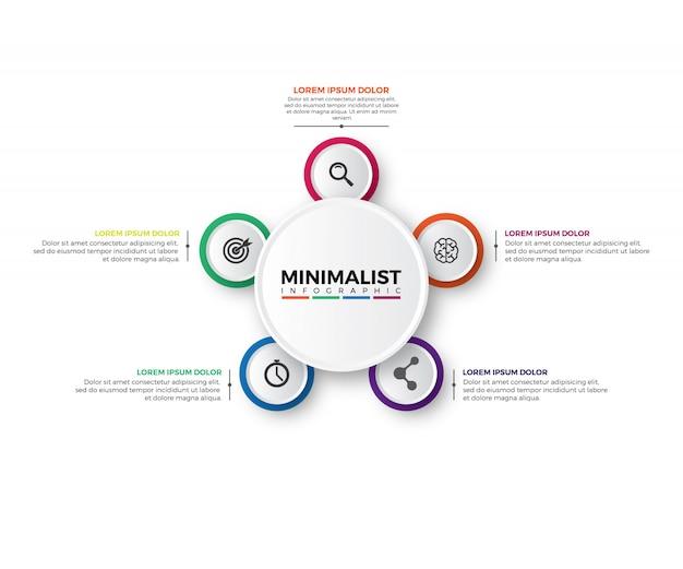 3d circular infographic design template Premium Vector
