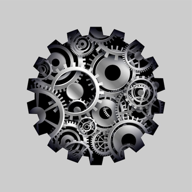 3d cog and gears wheel concept background Free Vector
