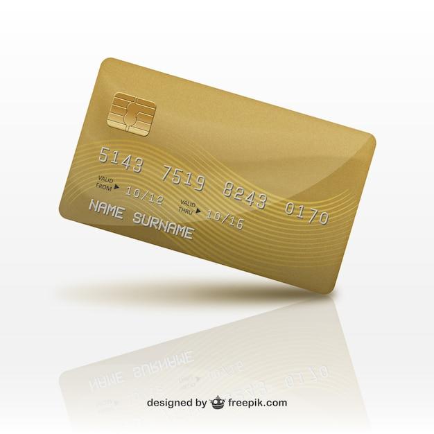 3d credit card Free Vector