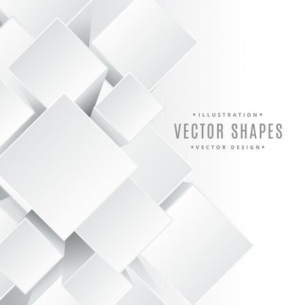 3d cubes shapes Free Vector