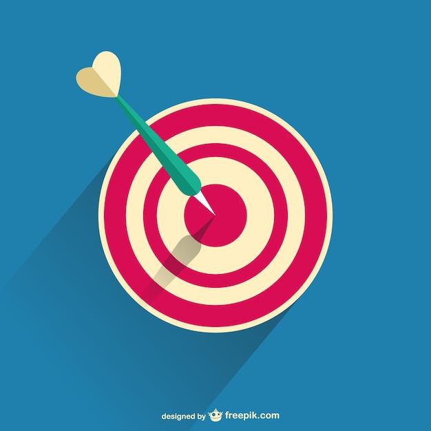 3d darts vector Free Vector