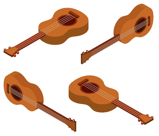 3d design for ukulele Free Vector