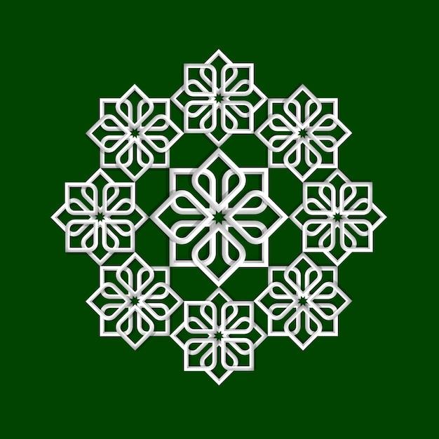 3d цветочный узор в арабском стиле Premium векторы