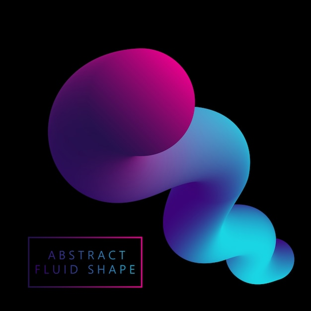 3d fluid like shape  Free Vector