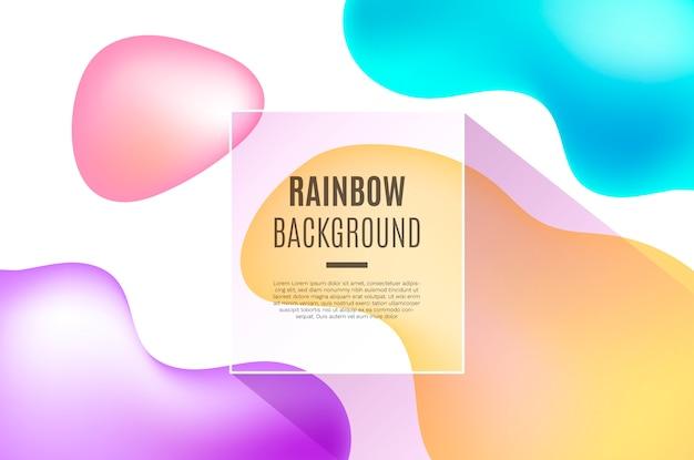 3 dの流体虹形の背景 無料ベクター