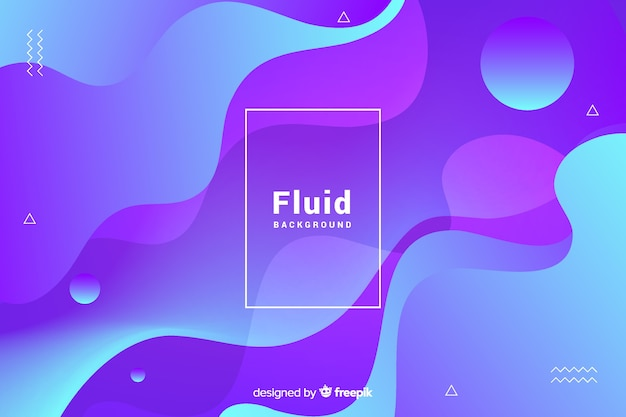 3d fluid shapes background Free Vector