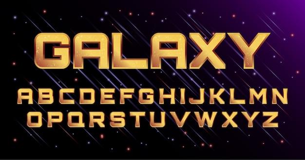 3d galaxy cosmic space font alphabet set Premiumベクター