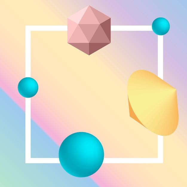 3d geometric element background Premium Vector