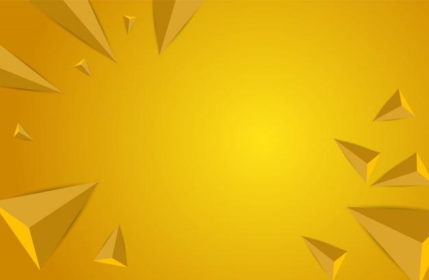 3d geometric, polygon  background. Premium Vector