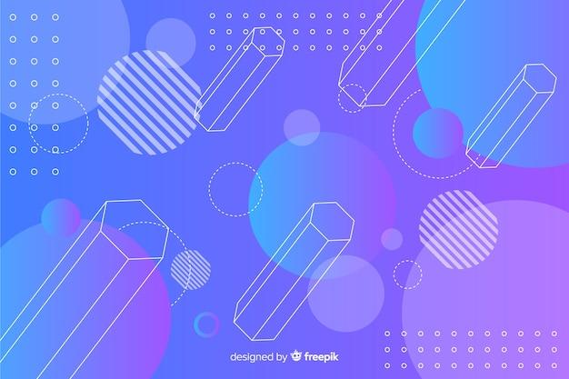 3d geometrical shapes background Premium Vector