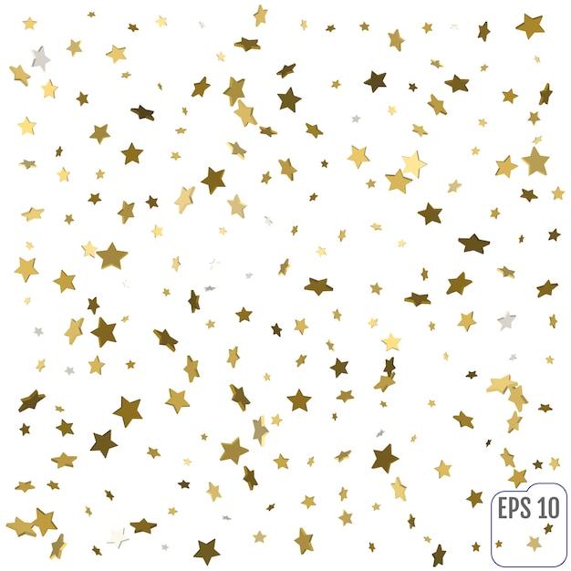 3d gold stars Premium Vector