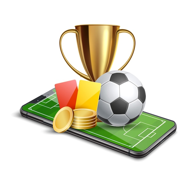 3d golden cup football card betting promo Premium Vector