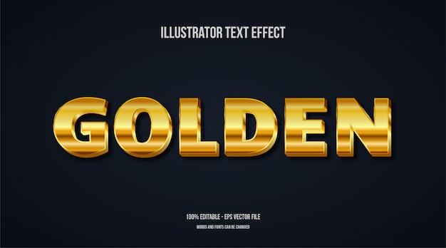 3d эффект золотой текст Premium векторы