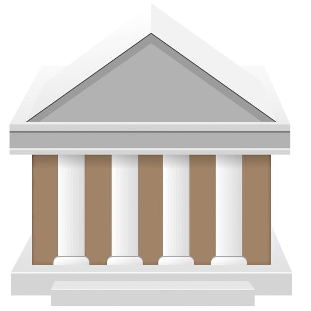 3d правительство и здание банковского дома Premium векторы