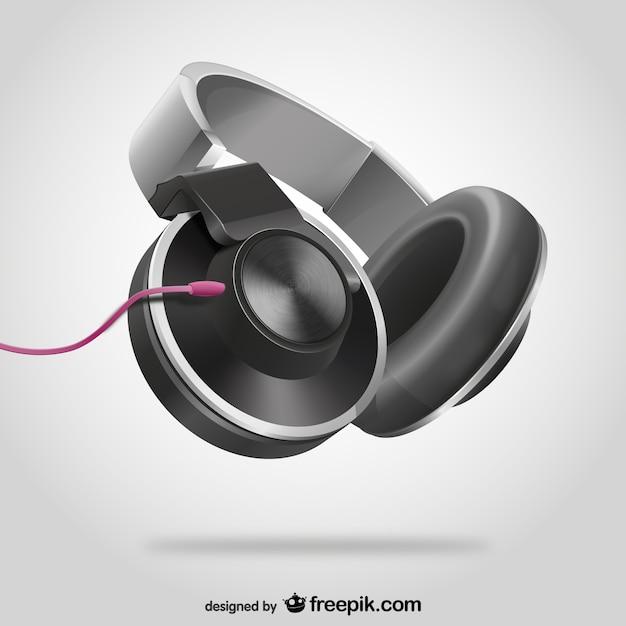 3D Headphones Free Vector