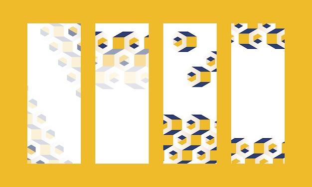 3d гексагональной узор фона коллекции Бесплатные векторы