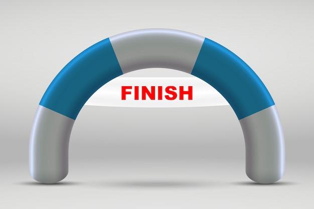 3d надувная финишная прямая арка. Premium векторы