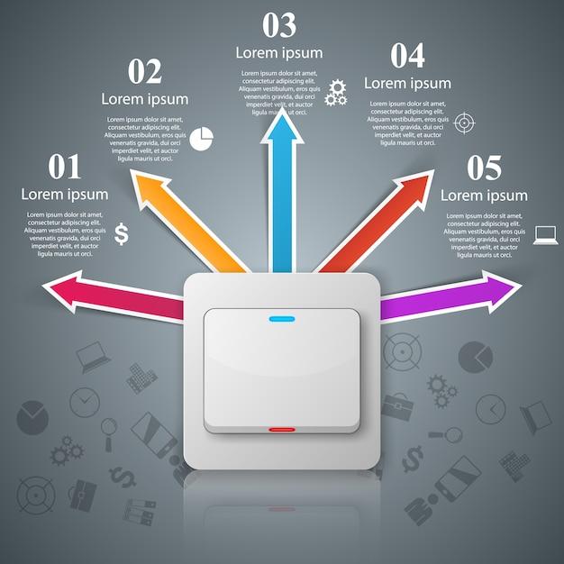 3d infographic design template. Premium Vector