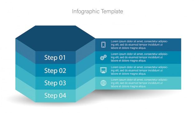 3d infographic elements Premium Vector