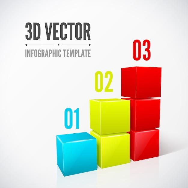 3d infographic template Premium Vector