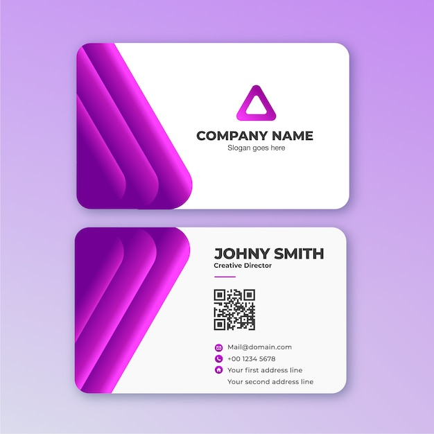 3d line business card in purple vector premium download 3d line business card in purple premium vector colourmoves