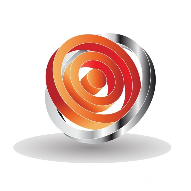 3d Logo With Circles Vector