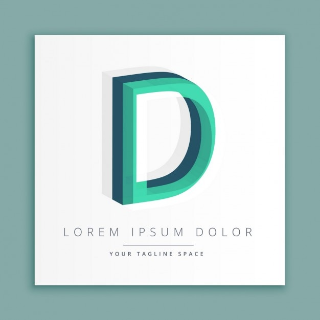 3d logo with letter d vector free download 3d logo with letter d free vector altavistaventures Image collections