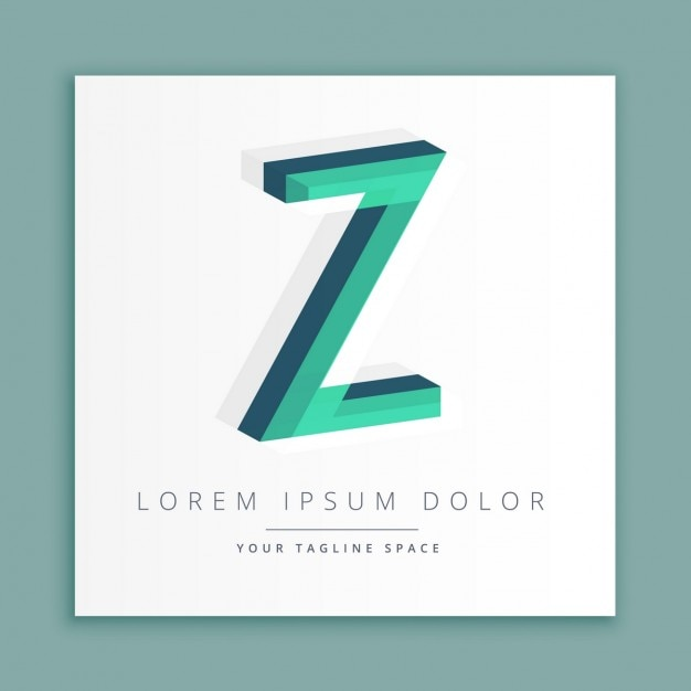 3d logo with letter z Vector | Free Download