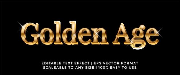 3d luxury gold font text effect Premium векторы