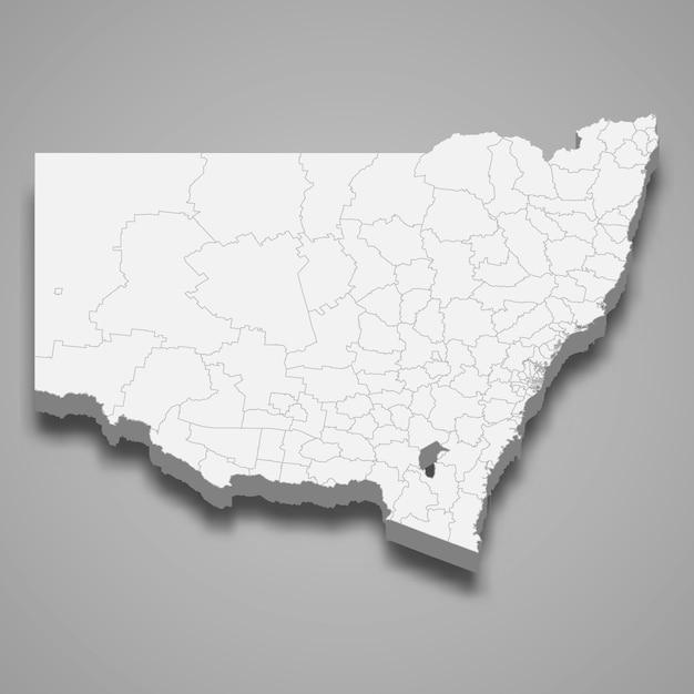 3d карта штата австралия Premium векторы