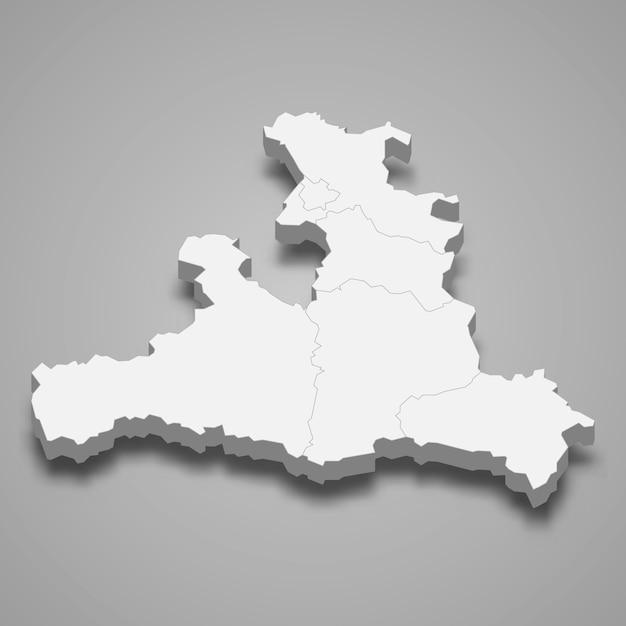 3d карта государства австрия Premium векторы