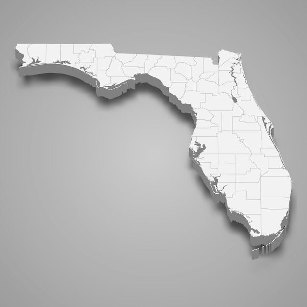 3d map state of united states Premium Vector