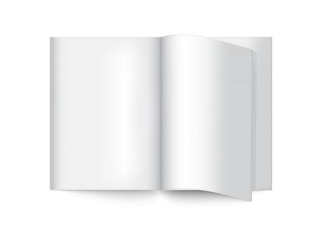 3d mock up realistic book для журнала, каталога, брошюры Premium векторы