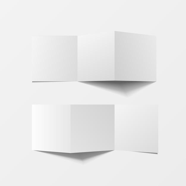 인쇄용 3d 모형 전단지 빈 평면도 프리미엄 벡터