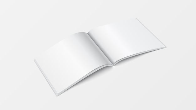 3d 이랑 펼친 책 템플릿 프리미엄 벡터
