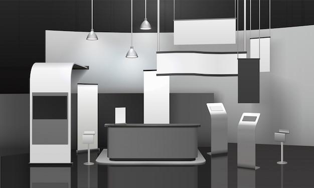 Рекламно-выставочный стенд 3d mockup Бесплатные векторы
