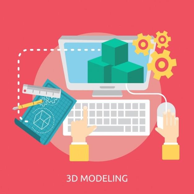 3d modeling background design vector free download for Decoration 3d model free download