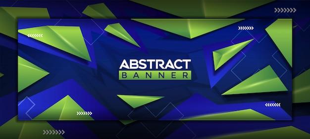 3d modern abstract social media banner template Premium Vector