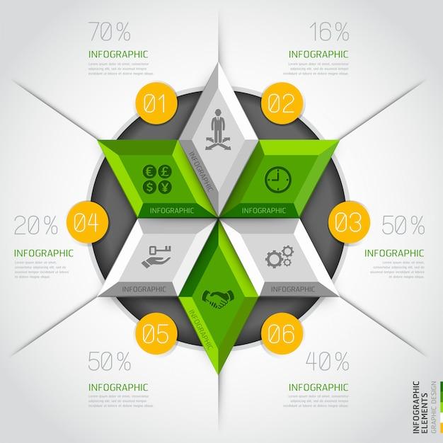 3d modern business diagram circle template. Premium Vector