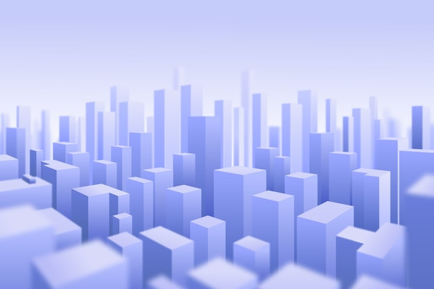 3d modern city background Free Vector
