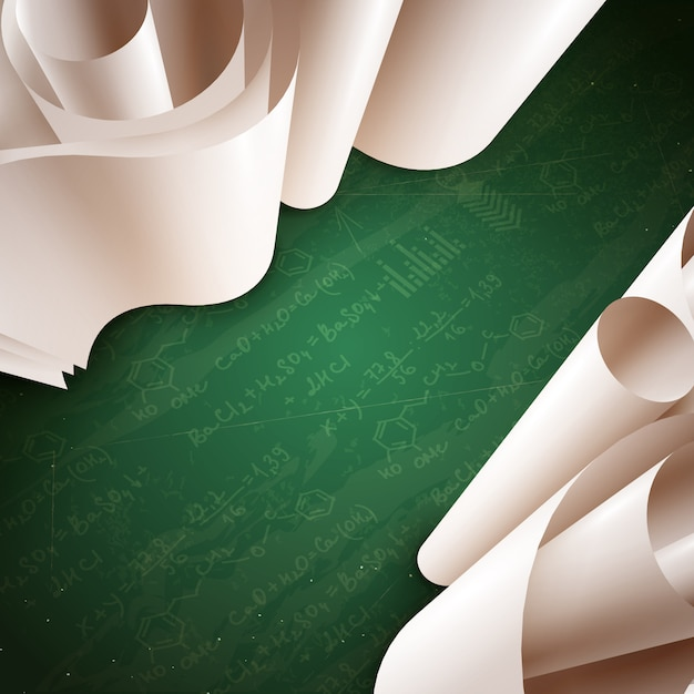 3d paper roll background Free Vector