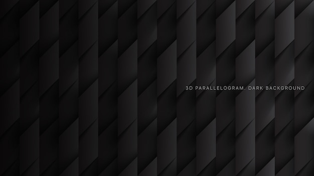 Трехмерные параллелограммы simple minimal dark grey technology Premium векторы