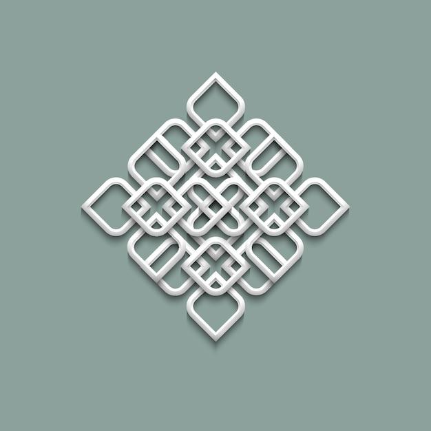 3d pattern in arabic style Premium Vector