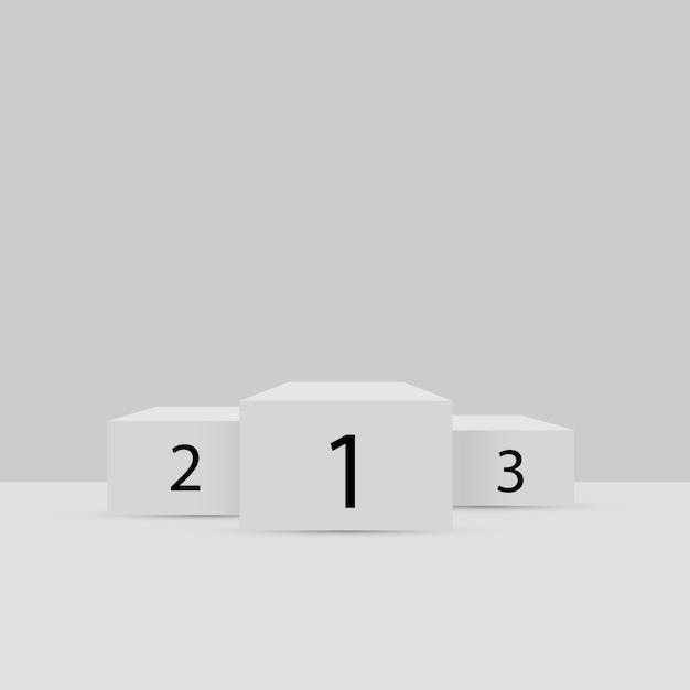 3d подиум. верхний Premium векторы