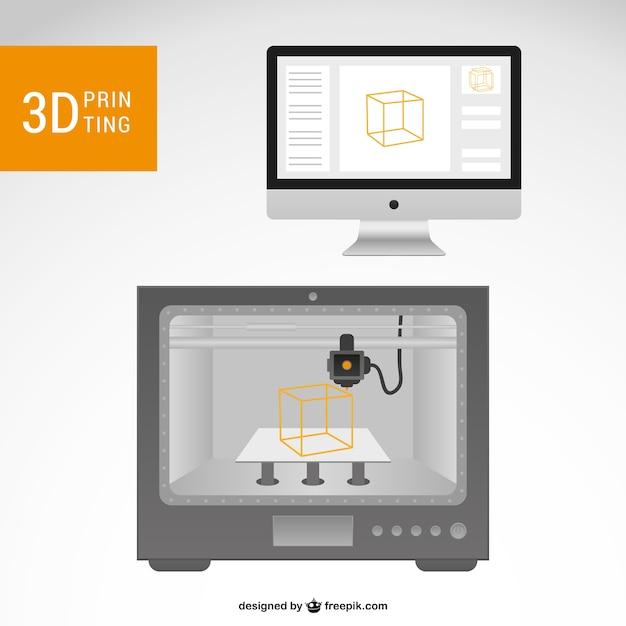 premium vector 3d printer and ocmputer https www freepik com profile preagreement getstarted 717320