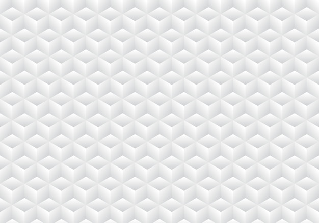 3d realistic geometric white and gray cubes pattern background Premium Vector